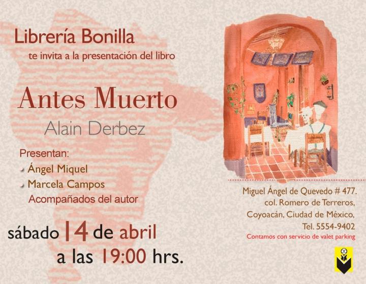 Presentación de Antes Muerto en la LibreríaBonilla